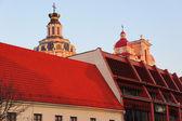 Eski kasaba çatılar — Stok fotoğraf