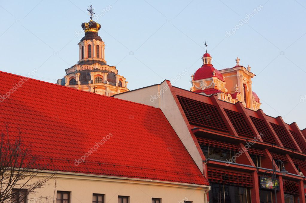 View over the rooftops of the old city. Vilnius, Lithuania                                — Stock Photo #10473678