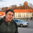 Royalty-Free Stock Photo: A young man travel tourist at Vilnius