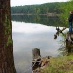 Boy fishing — Stock Photo #10503225
