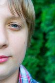 Portrait of teenage boy — Stock Photo