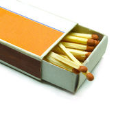 Old matchbox — 图库照片