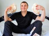 Insan ve para — Stok fotoğraf