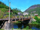 Starý železný most — Stock fotografie