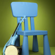 Kid blue chair — 图库照片
