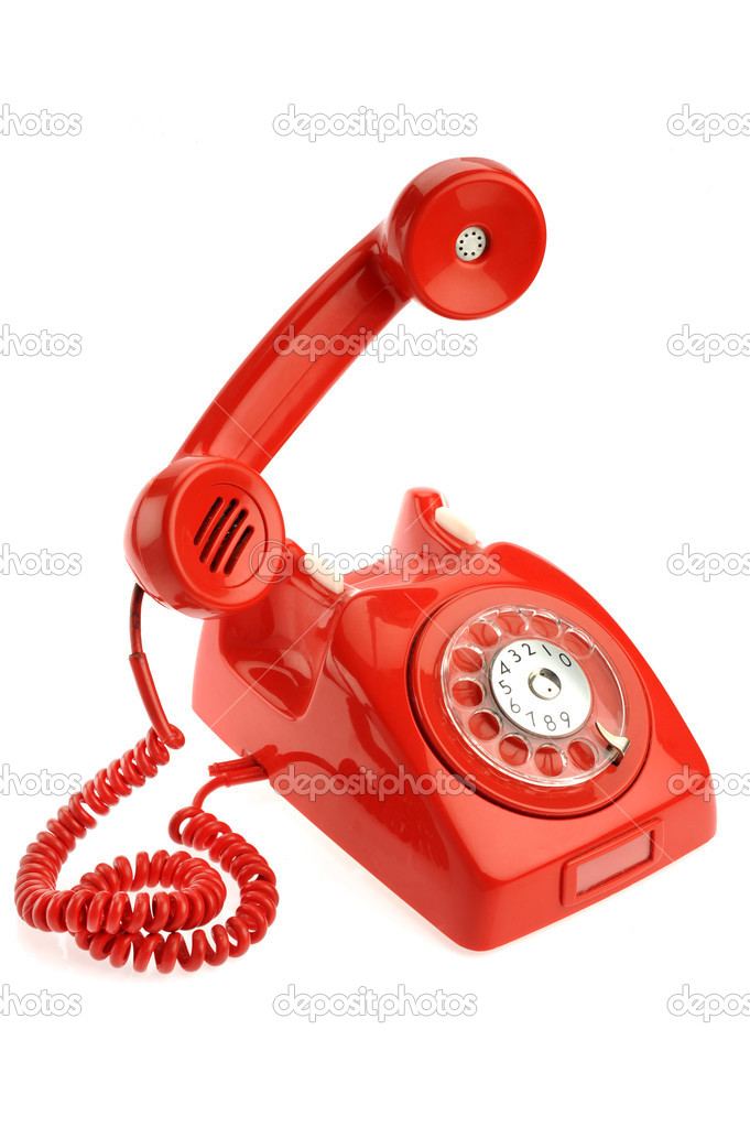An old phone over white background — Stock Photo #8991564