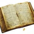 Very old open bible — Stock Photo