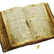 Very old open bible — Stock Photo #9388871