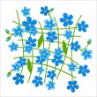 Stock Vector: Forget-me-not pattern