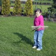Child in the garden — Stock Photo