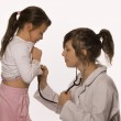 Doctor examining little girl — Stock Photo #8264917