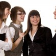 Businesswomen discussing on a meeting - Stock Photo