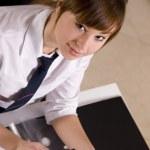 Businesswoman with calculator — Stock Photo #8265549