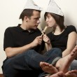 Couple painting a room — Stock Photo #8265765