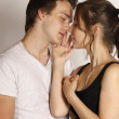 Kissing young couple — Stock Photo #8267782