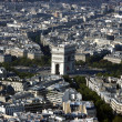 Paris from Eiffel — Stock Photo #8300786