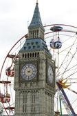 Big Ben and London Eye — Stock Photo
