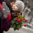 Romance in the city — Stock fotografie