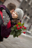 Romance in the city — Stock Photo