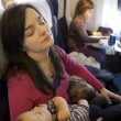 Stock Photo: Family air travel