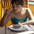 Girl with cake — Stock Photo #9258023
