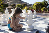 Playing chess — Foto Stock