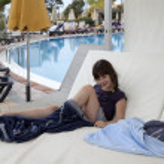 Teen in the pool — Stock Photo