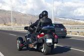 Motocykl na drodze — Zdjęcie stockowe