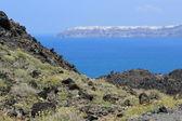 Oia van de vulkaan, santorini, griekenland — Stockfoto