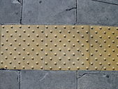 Pavement for blind — Stock Photo