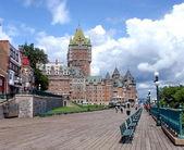 Frontenac slott, quebec, kanada — Stockfoto