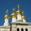 Russian eastern orthodox church in Geneva Switzerland — Stock Photo