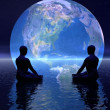 Meditation for earth — Stock Photo #9340775