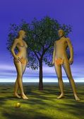 Adam and Eve — Stock Photo