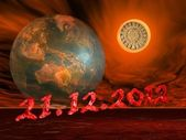 End of the world's maya prophecy — Stock Photo