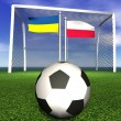 2012 european soccer championship in Poland and Ukraine — Stock Photo