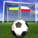 2012 european soccer championship in Poland and Ukraine — Stock Photo