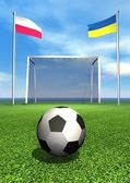 2012 european soccer championship — Stock Photo