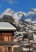 Grand-Bornand chalets, France — Stock Photo