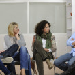 Team building, group discussion or therapy — Stock Photo