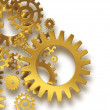 Gold gears — Foto de Stock