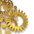 Foto de Stock  : Gold gears