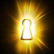 Light from the keyhole — Stock Photo
