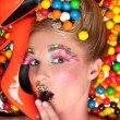 Studio Creative Candy Themed Shoot — Stock Photo