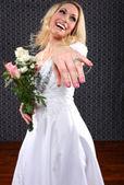 Porträtt av en ung brud som gifta — Stockfoto