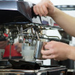 Stock Photo: Professional coffee machine