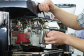 Professional coffee machine — Stock Photo