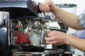 Professional coffee machine — Stock Photo