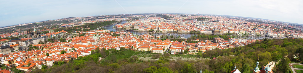 Detailed panorama of Prague, Czech Republic — Stock Photo #10575815