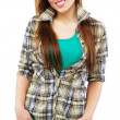 Stock Photo: Cheerful girl in casual clothing